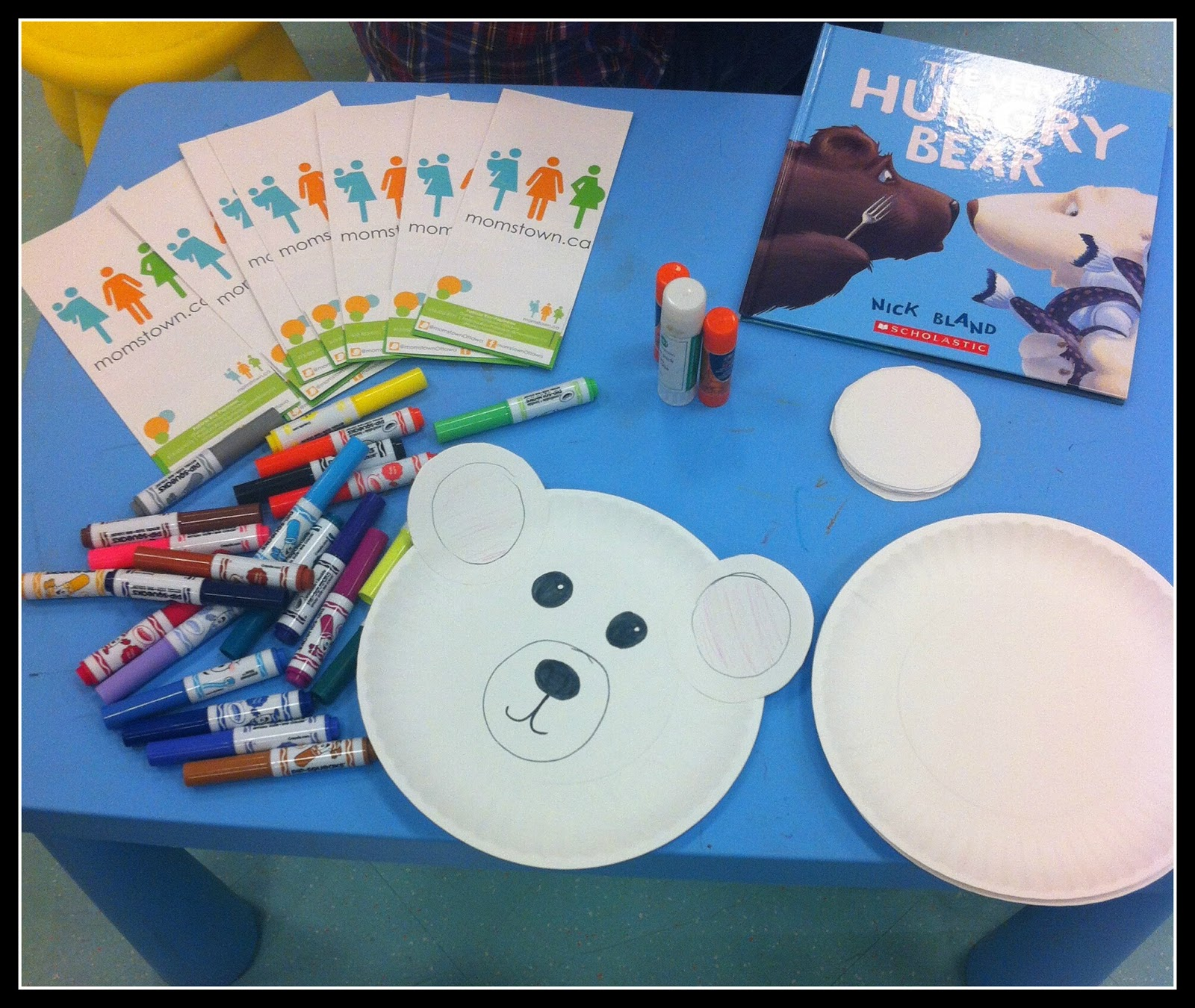 All you need are white paper plates white paper markers and glue. The kids got very creative and made their bears very colorful!  sc 1 st  Momstown Ottawa & momstown Ottawau0027s storytime and polar bear craft for children